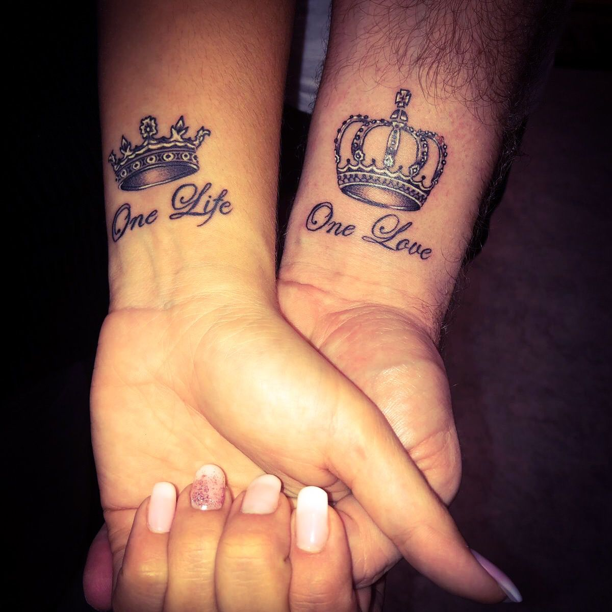 One Love One Life Tattoo Couple One Life Tattoo Couple Tattoos Friend Tattoos