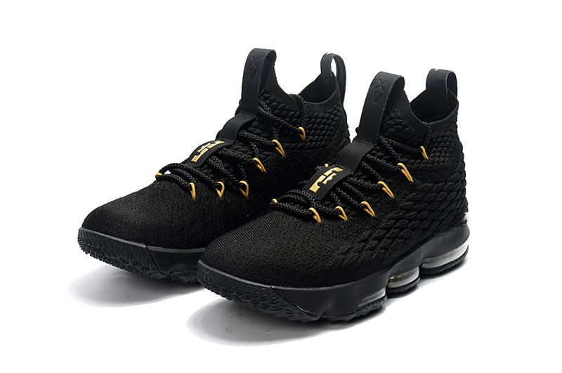 c6bb83ed0d585 Official Cheap LeBron Shoes 2018 Lebron 15 XV Black Gold