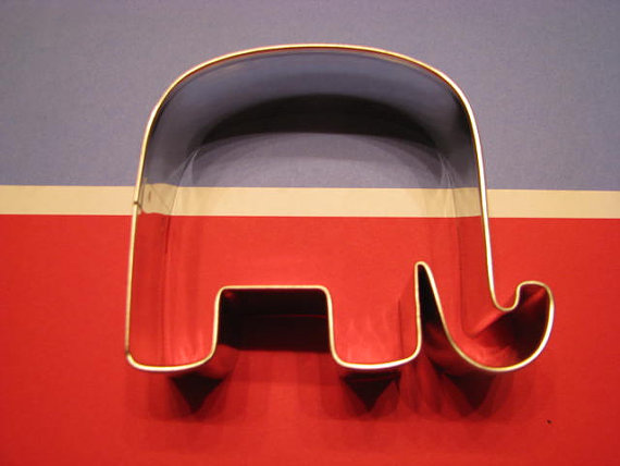 Republican GOP Elephant 3 Metal Cookie Cutter by AllThatDough on etsy.com