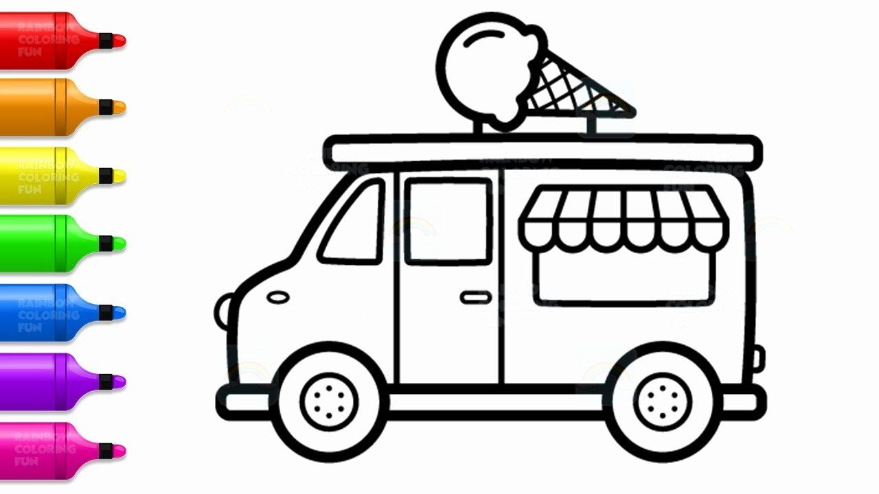 Ice Cream Truck Coloring Page Lovely How to Draw Ice Cream ...