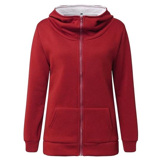 Women Casual Zip Up Hooded Winter Long Sleeve Warm Hoodies Coat Jacket Outwear z