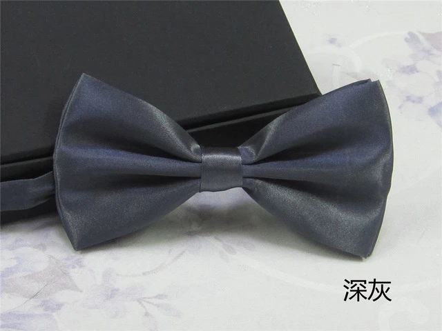 Solid Wood MenS Bow Tie Bow Tie Tuxedo Classic Solid Color Wedding Party