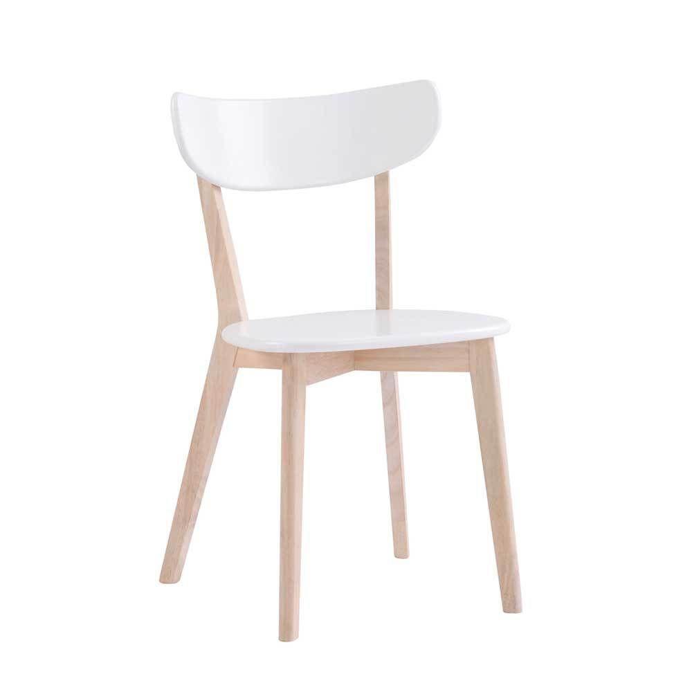 Esstischstuhl Set in Weiß Holz modern (2er Set) Jetzt bestellen ...