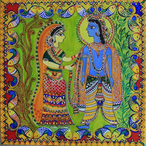 mithila art - Google Search | Madhubani | Madhubani painting