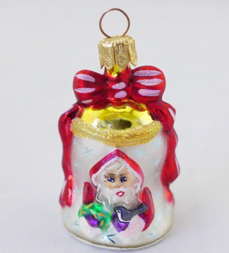 Christopher Radko Nick O Bell Christmas Ornament Little Gems With Box Christmas Ornaments Christmas Bells Christmas Items