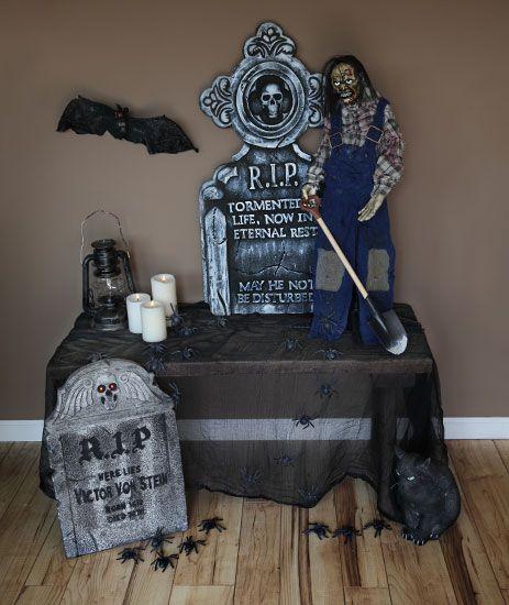 Gravedigger Entryway Scene #halloween #props #decorations - scary halloween props