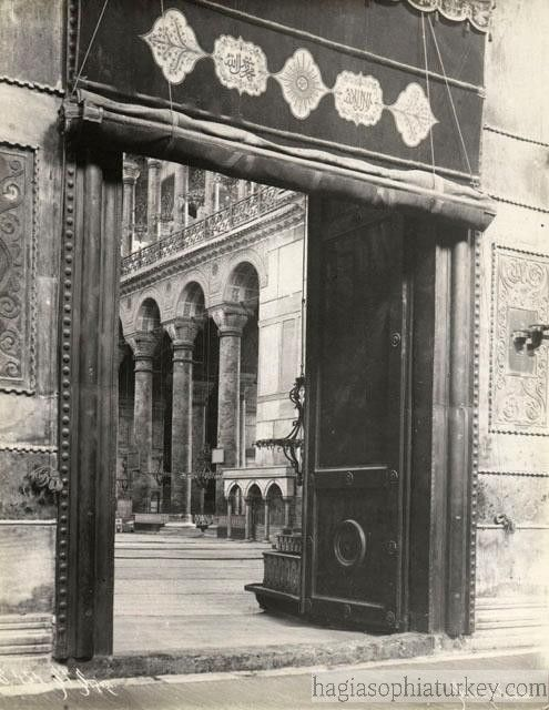In Hagia Sophia three doors of outer narthex which symbolize the Holy Trinity give way to the outer narthex with 5 doors. From there nine gates lead to ... & In Hagia Sophia three doors of outer narthex which symbolize the ...