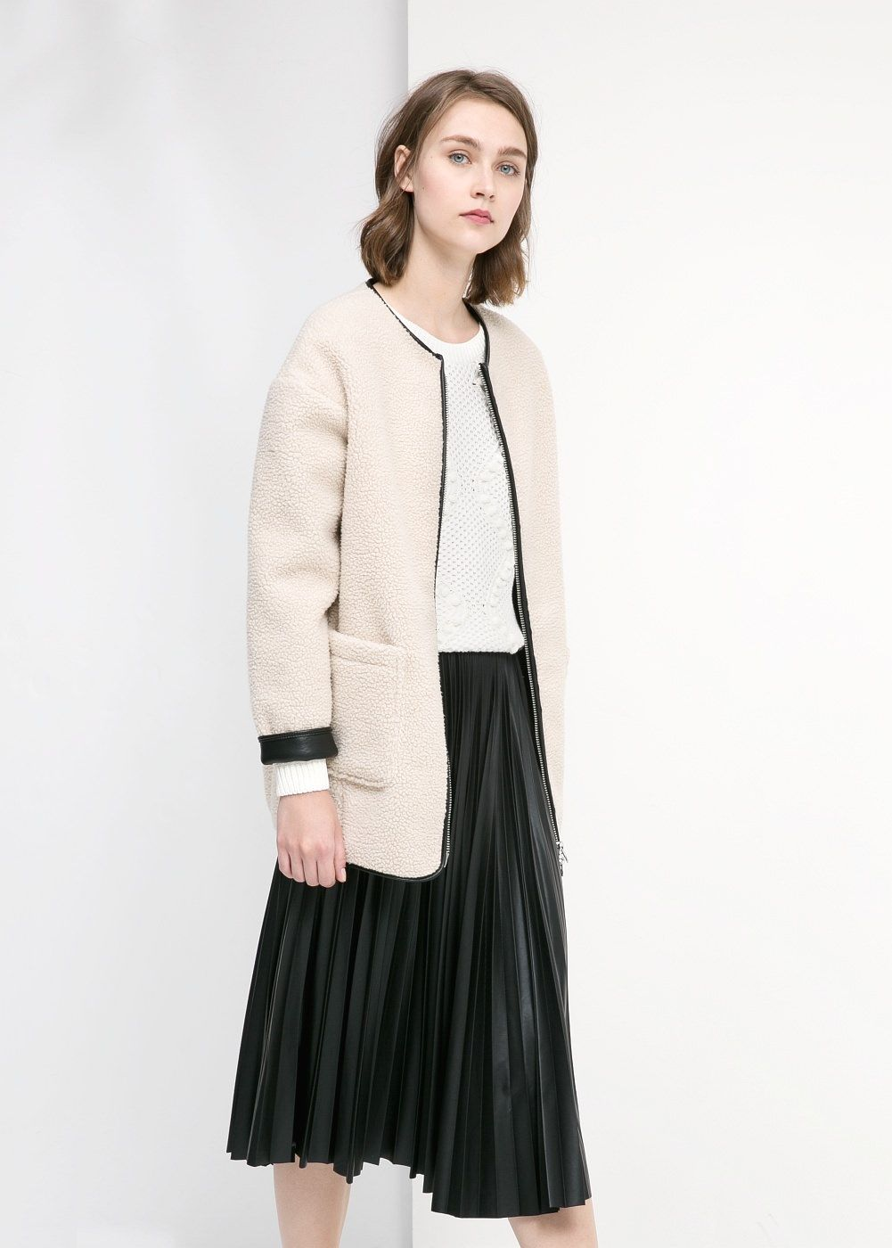 Faux shearling cocoon coat - Women   Jackets and Outerwear ... ccf71cac10e8