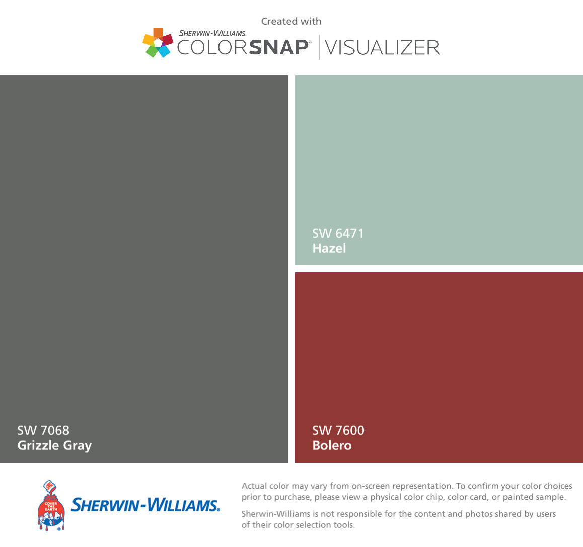 I Found These Colors With Colorsnap Visualizer For Iphone By Sherwin Williams Grizzle Gray Sw