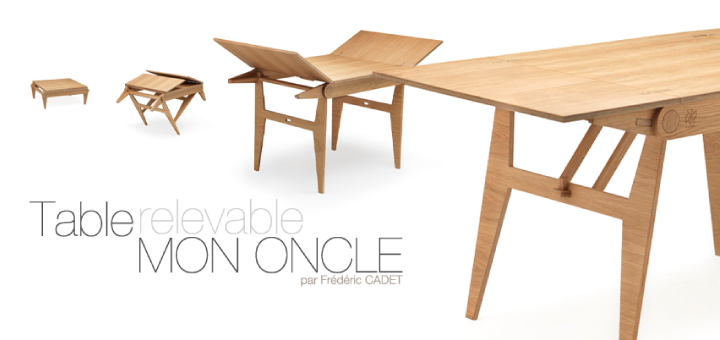 Agence Ecodesign Fredericadet Table Basse Transformable Table Relevable Table Relevable Extensible