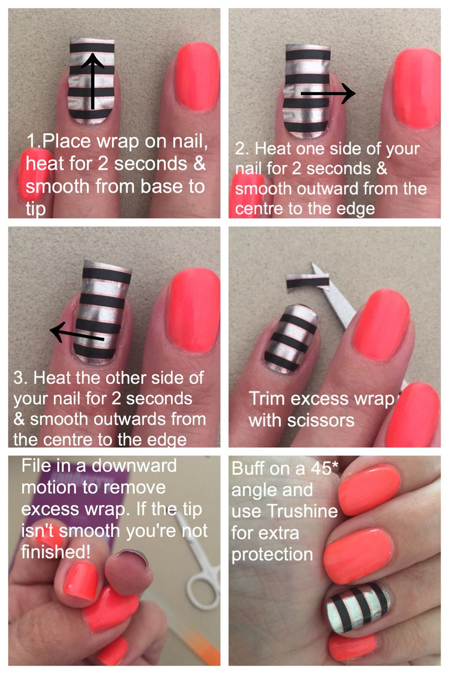 Quick reference pic for wrap application that works every