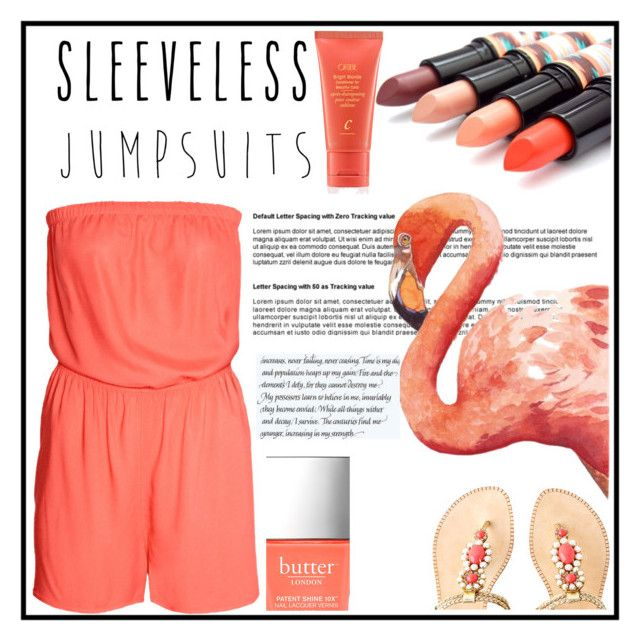 """Sleeveless Jumpsuits"" by clothesloverin ❤ liked on Polyvore featuring H&M, Lilly Pulitzer, Butter London, Oribe and sleevelessjumpsuits"