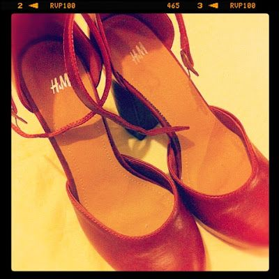 I will show you an example with my new pair of shoes from H