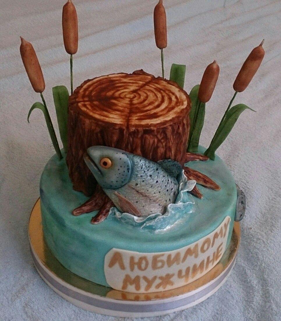 торт на тему рыбалка картинки удовольствие общения собаками