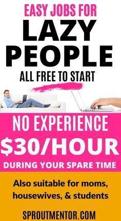 Easy Jobs For Lazy People All Free to Start-No Exp