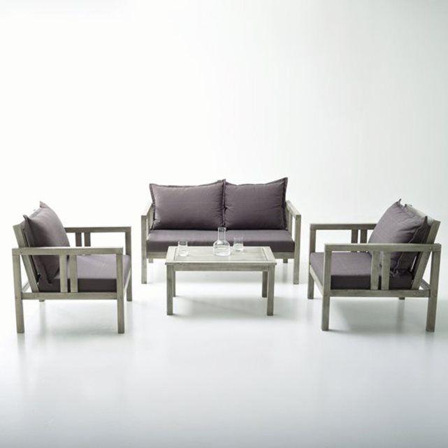 Salon de jardin eucalyptus Fleurida La Redoute Interieurs   NLS_ ...