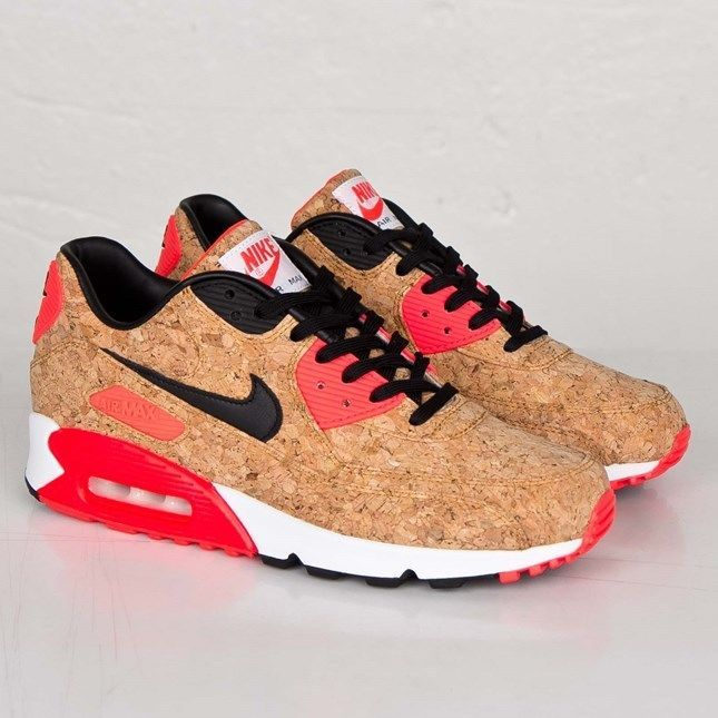 NIKE AIR MAX 90 25th ANNIVERSARY CORK BRONZE BLACK INFRARED WHITE 7252 $300
