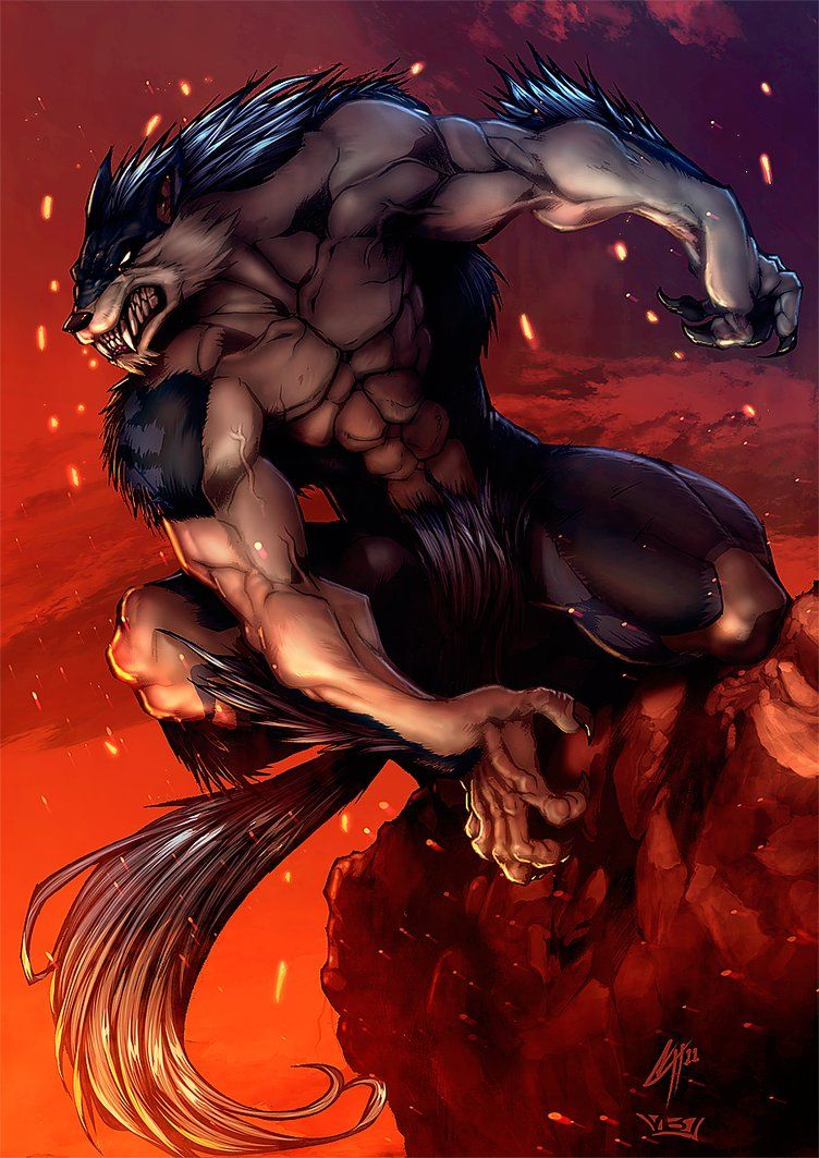 Lycanthropes or Werewolves are mythological humans that have the ability to shift shape into wolves or anthropomorphic wolf-like creatures. Description from pinterest.com. I searched for this on bing.com/images