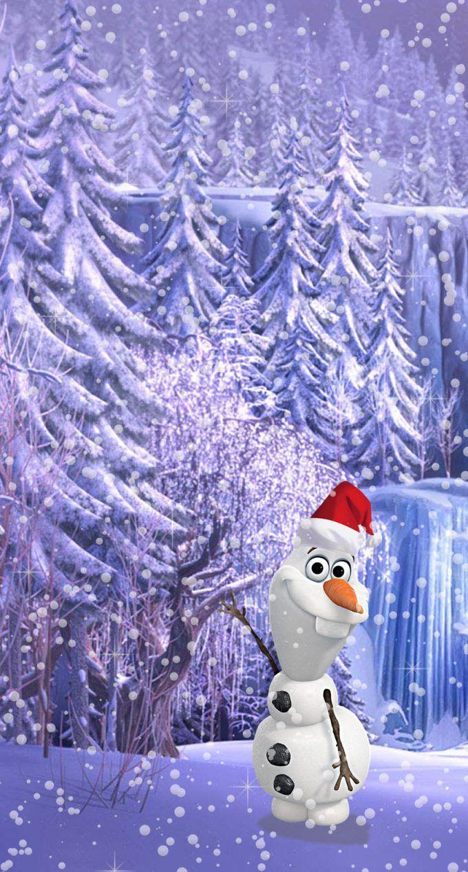 アナと雪の女王 オラフのクリスマス ディズニーの携帯電話の壁紙