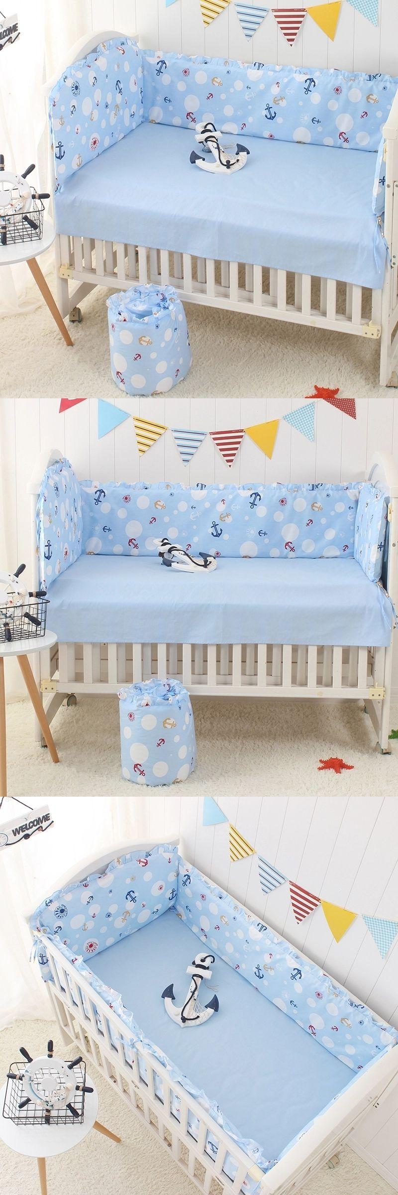 Multi Colours 5 pcs/set Baby Crib Bumper Sets Nursery,Cartoon ...