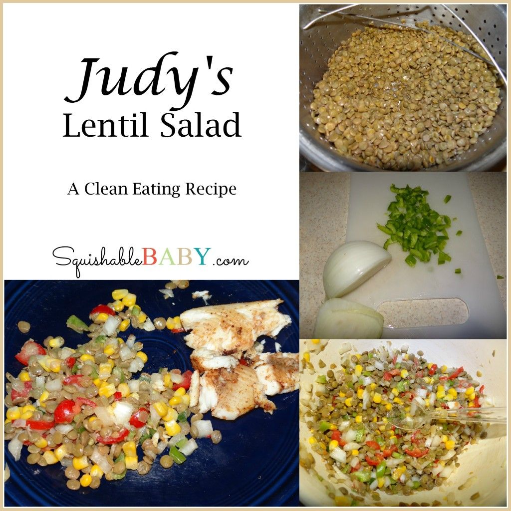 #cleaneating #Recipe – Judy's Lentil Salad An easy good side dish that you can take anywhere.  #21dayfix