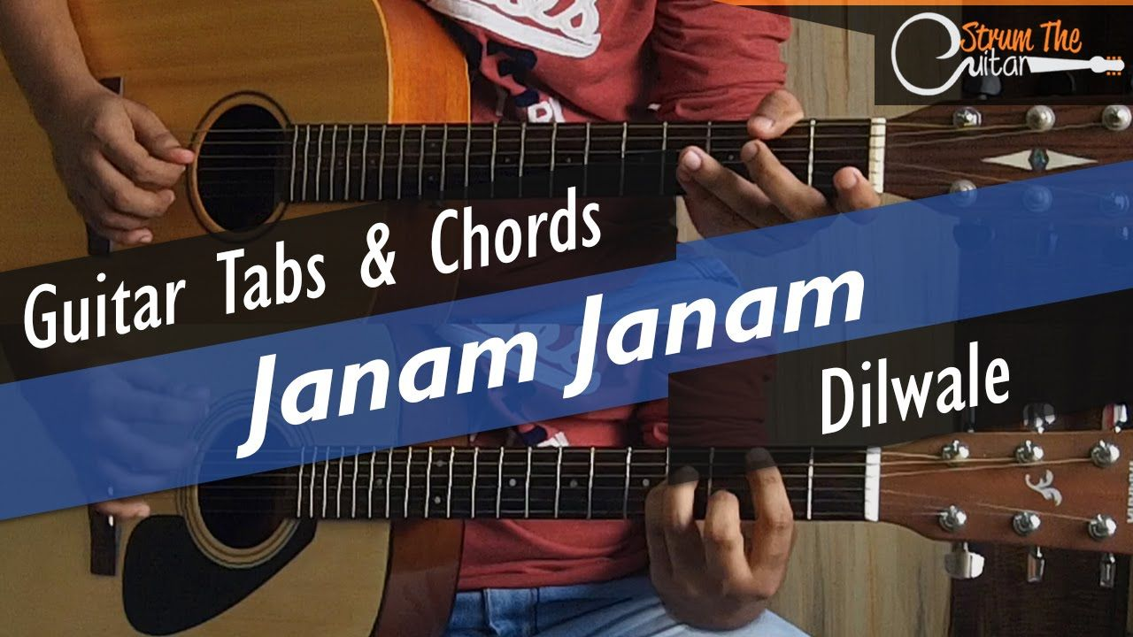 Dilwale Janam Janam Acoustic Guitar Lessontutorial Tabs