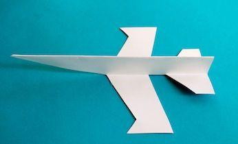 make a cut and fold jet plane fathers day pinterest paper