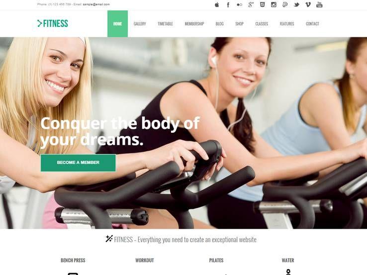 fitness-wordpress-theme-template Sports WordPress Themes - workout char template