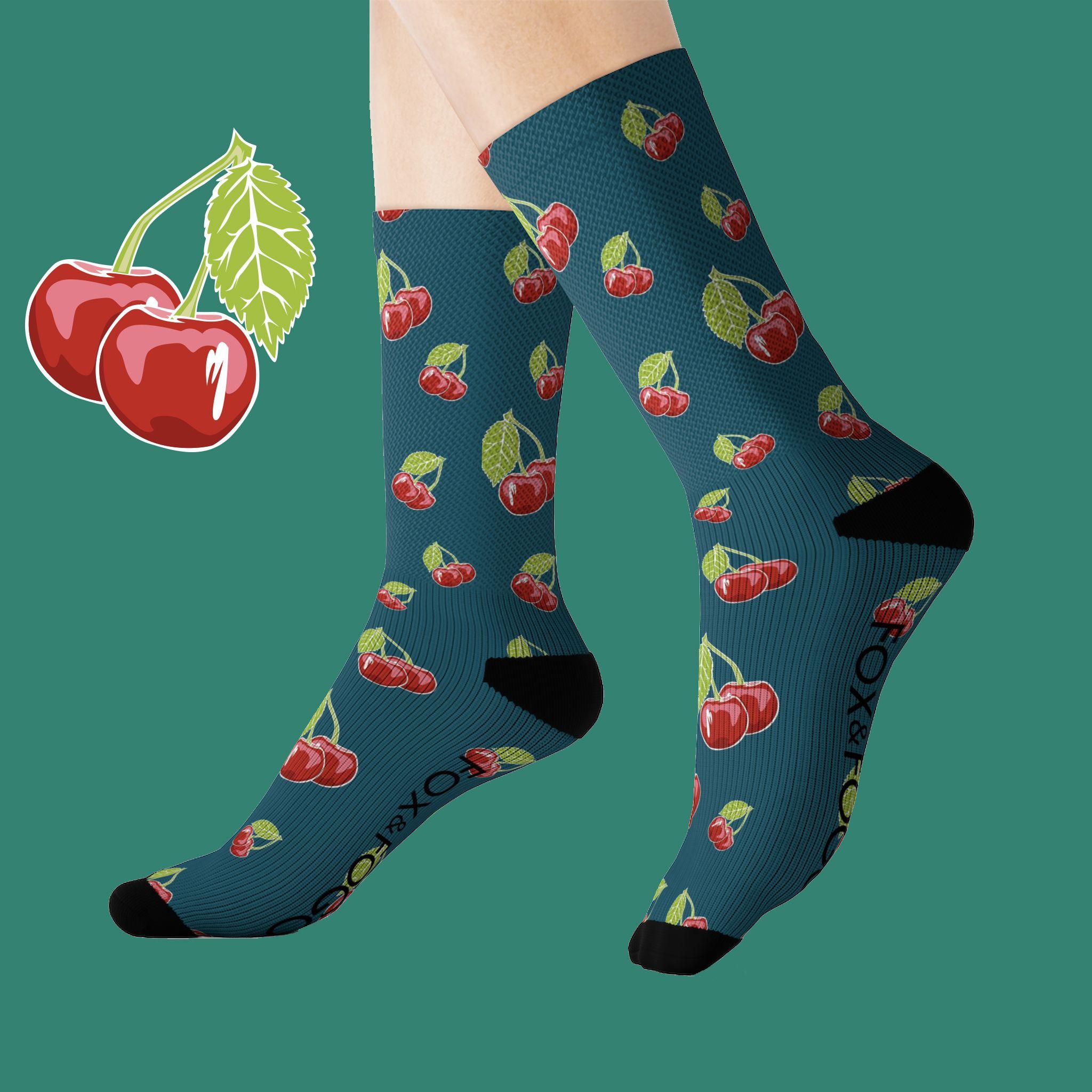 Cherry socks food socks happy socks art socks