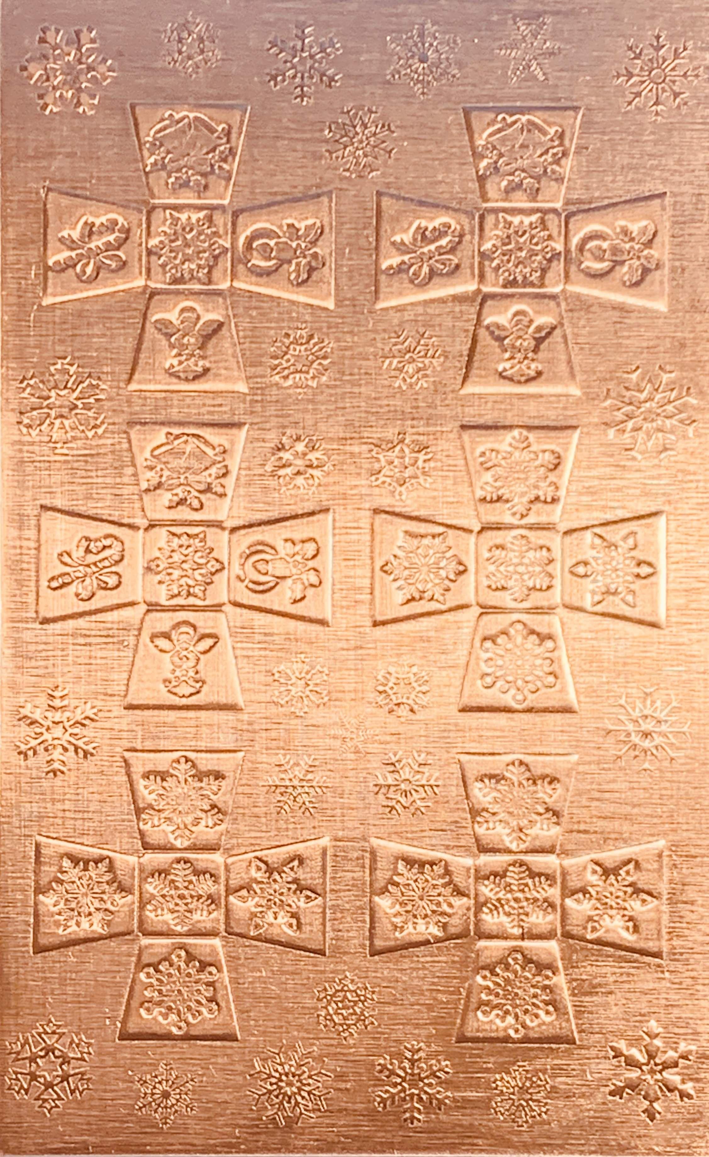 Square Sided Jingle Bell Small Copper Pattern Pressing 2 1 2 X 4 Metal Maven Copper Sheets Copper Snowflake Designs