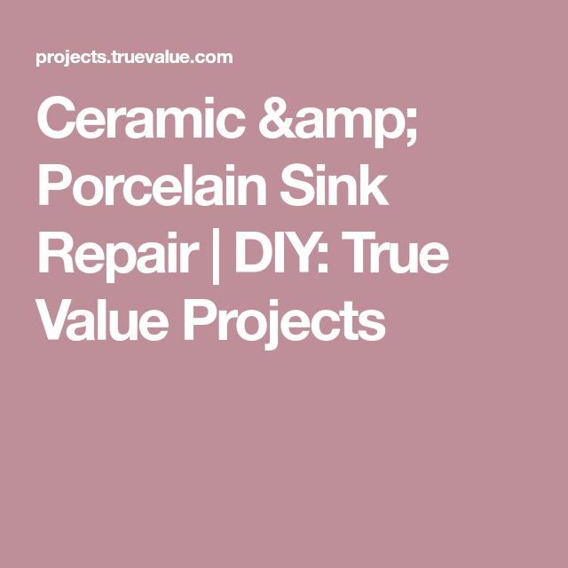 How to Repair a Ceramic or Porcelain Sink  Porcelain sink, Sink repair, Porcelain