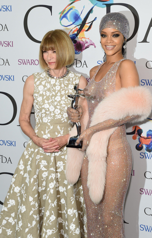 Rihanna  Anna Wintour - 2014 Cfda Fashion Awards June 2 -8002