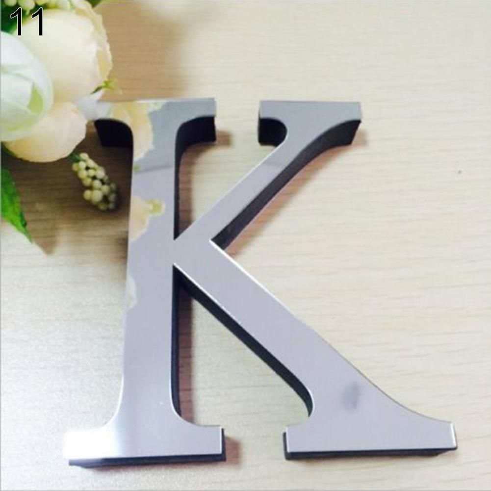 Photo of 26 English Letters DIY 3D Modern Mirror Decal Art Mural Wall Stickers Home Decor – as the picture c