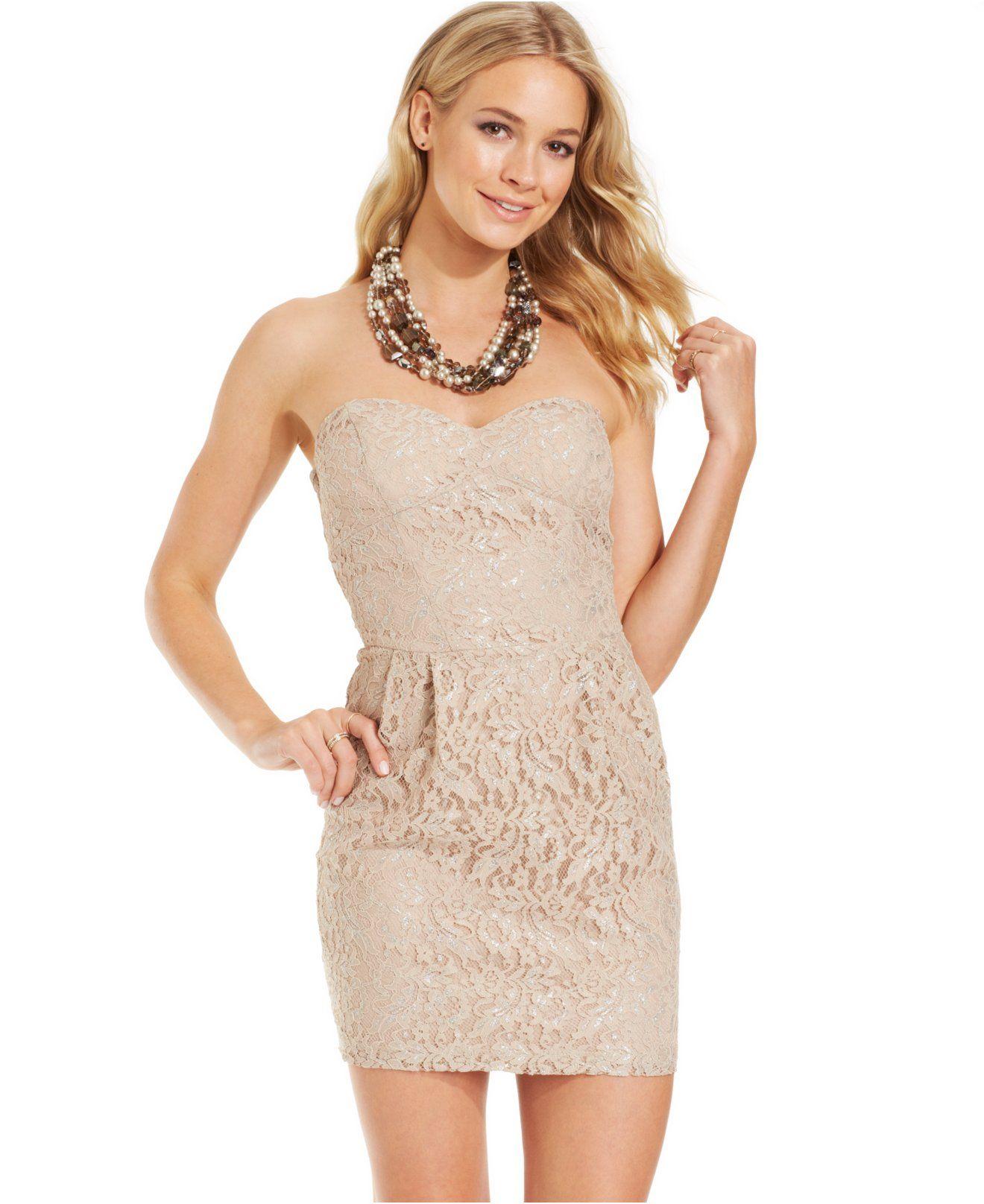 B darlin juniors lace metallic dress bachelorette party