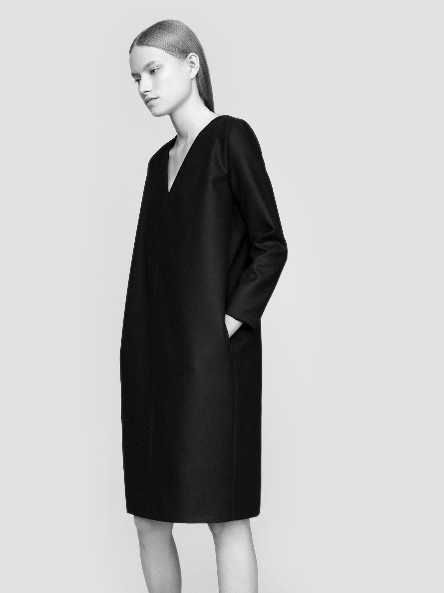 MINIMAL + CLASSIC: NON dress 100% finest merino wool fabric model Malwina Garstka Modelplus Photographed by Kasia Bielska thisisnon.com