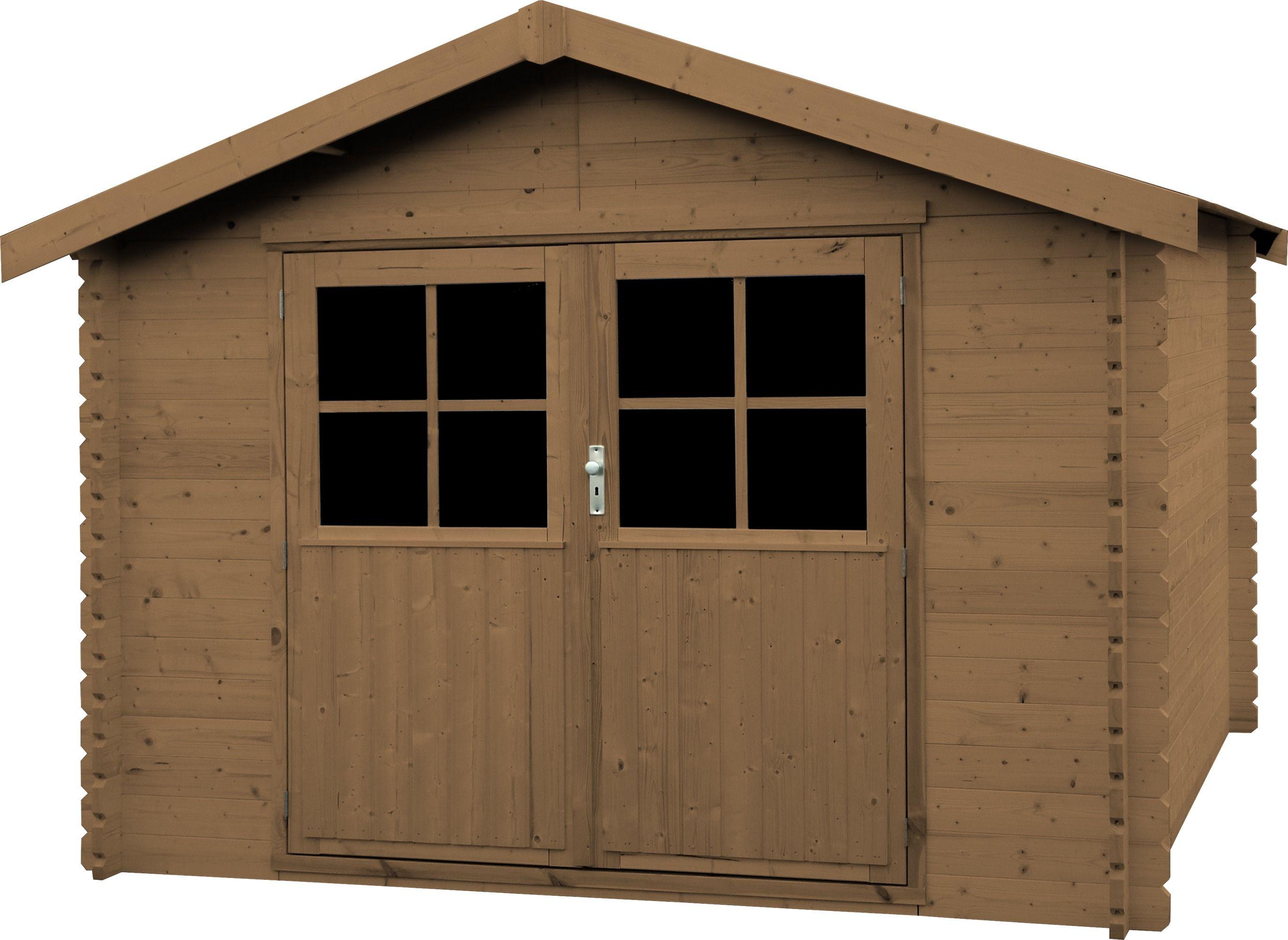 Aki bricolaje jardiner a y decoraci n caseta madera valodeal marron casetas de madera - Bricolaje y decoracion ...