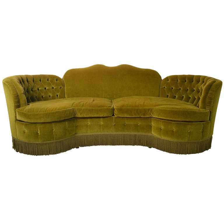 Totally Glam Art Deco Sofa Hollywood Regency Style Would Be