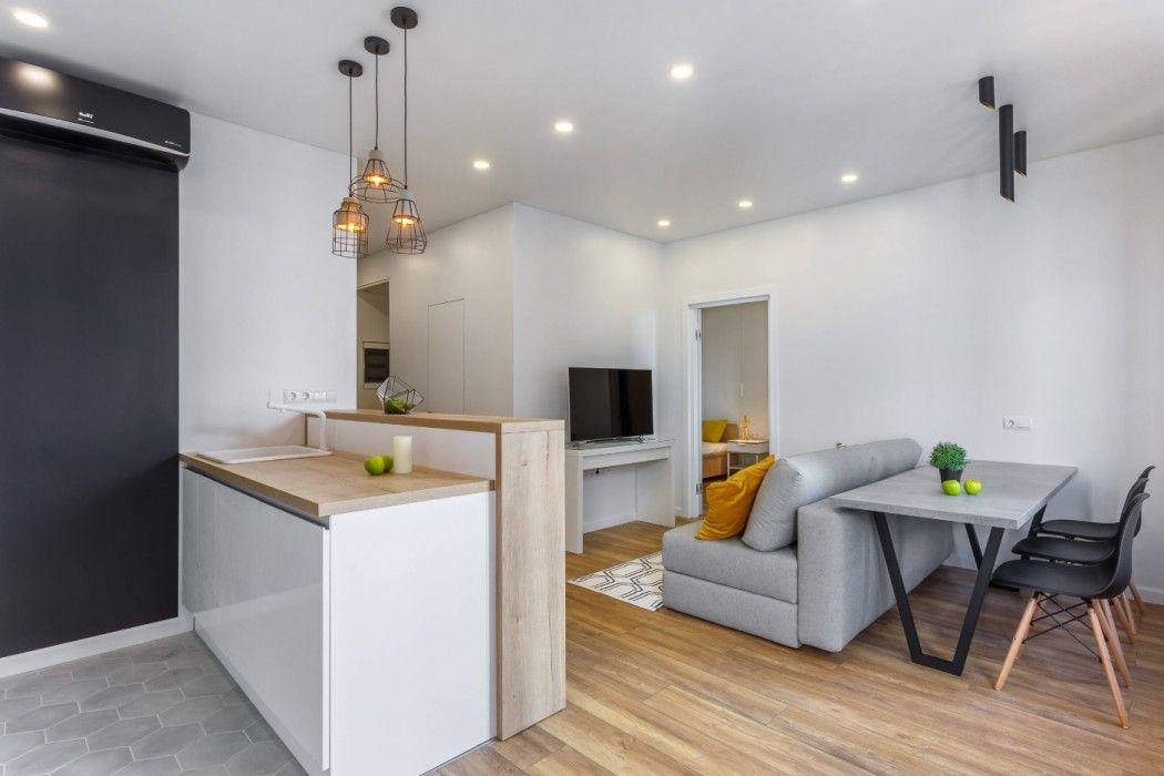 дизайн совмещенной кухни и гостиной 2