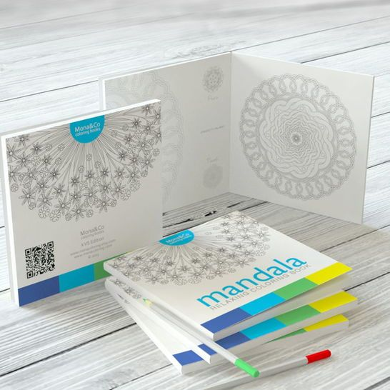 Coloring Book Mandalas - Art Therapy Book - Coloring Book For Adults