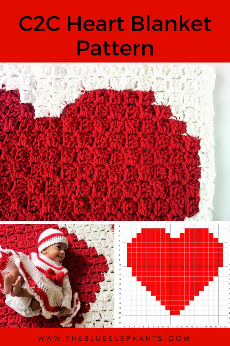 C2c Heart Blanket Pattern Häkeln Pinterest Häkeln Decke