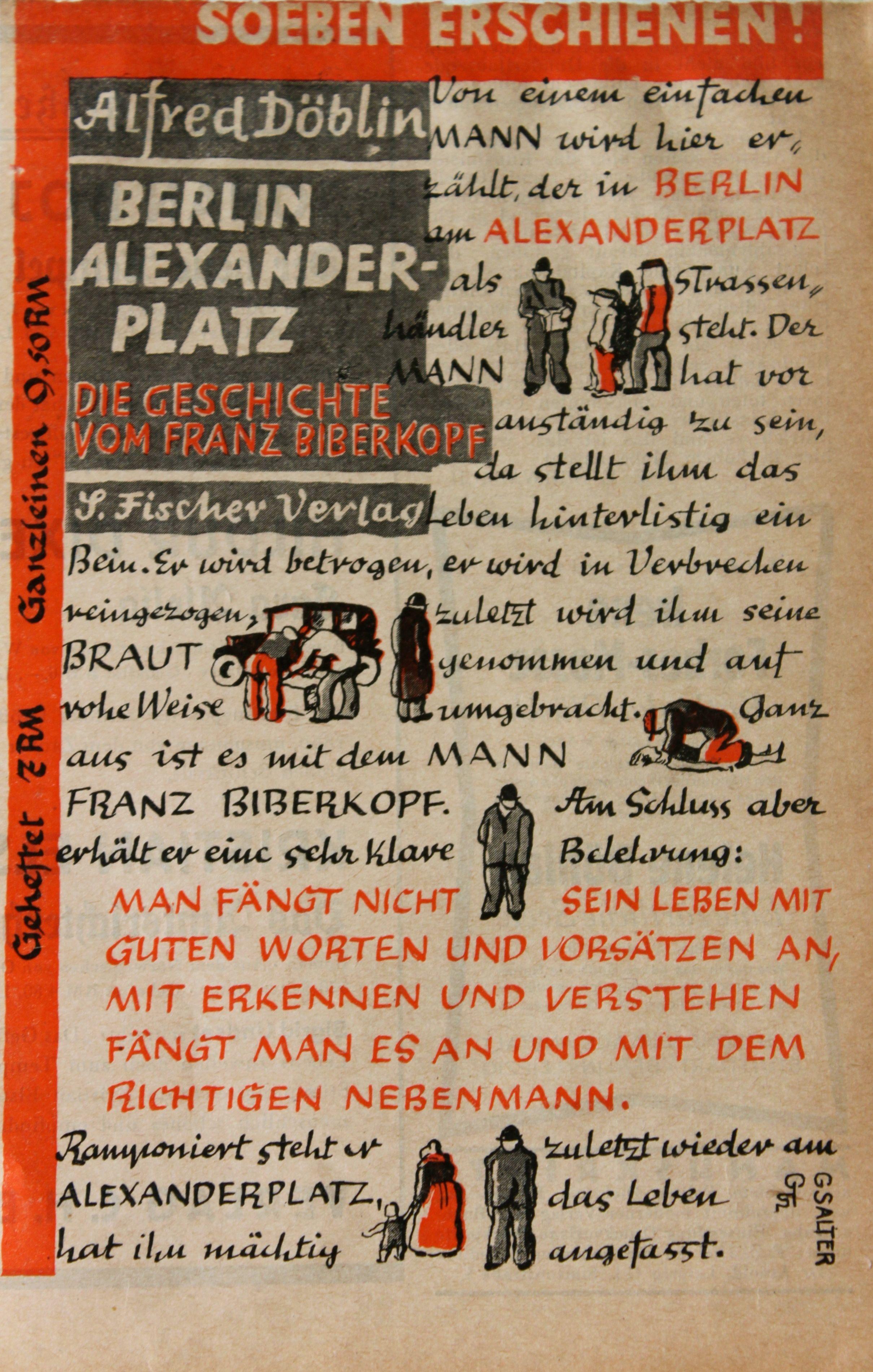 Berlin Alexanderplatz Weltberuhmt Und Oft Kopiert Georg Salter Berlin Alexanderplatz Berlin Buch Design