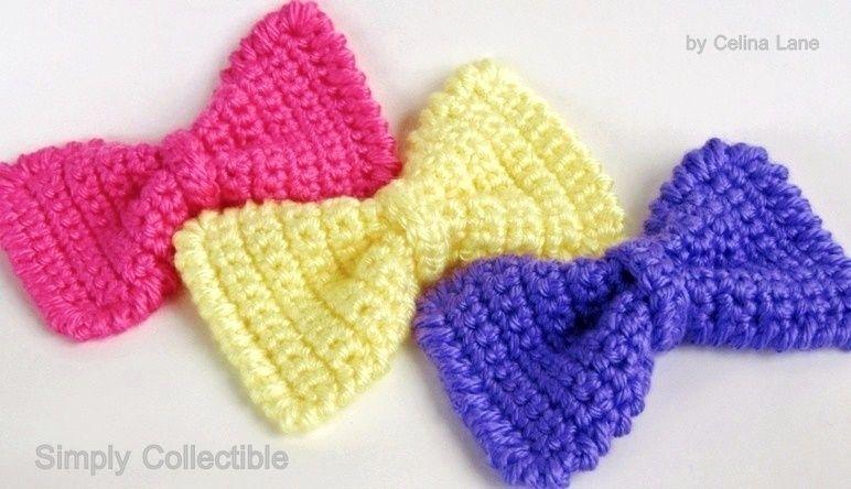 Sassy Crochet Bow Pattern | Sencillo, Mono y Bolsos