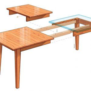 Extension Dining Table Finewoodworking Regarding Dimensions 1200 X 819 Room Plans
