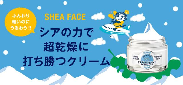 SHEA FACE シアの力で超乾燥に打ち勝つクリーム
