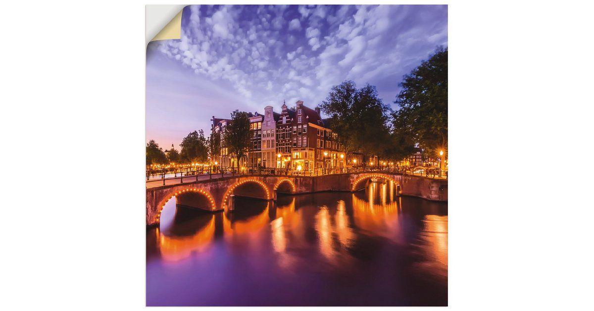 Premium Wandfolie »M. Viola: Amsterdam Abendidylle« #kinderzimmerkunst