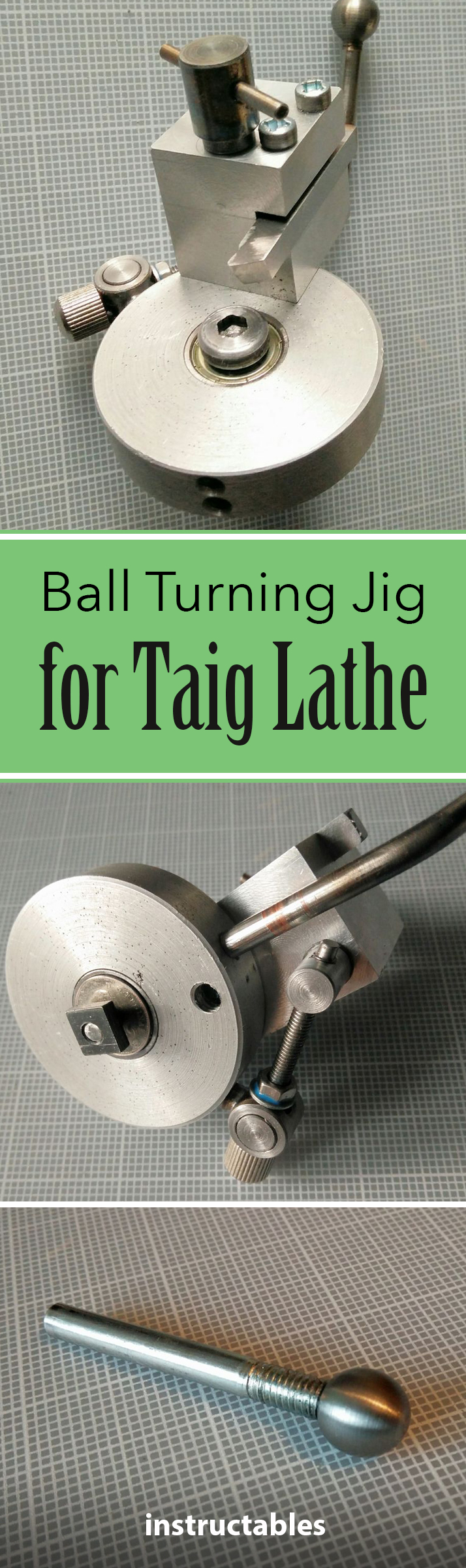 This jig is not difficult to make, quite easy to set up and use, and turns out balls beautifully.