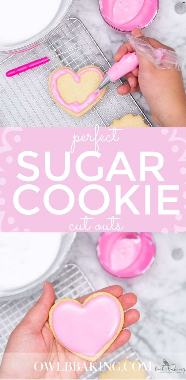 Perfect Sugar Cookie cut outs are soft, thick, sinfully buttery and taste amazing whether they are decorated or not! Make easy sugar cookie cut outs that keep their shape & edges. This is a no-chill recipe! #valentinesdaycookies #decoratedcookies #cookiesforroyalicing #heartcookies #homemadevalentinesdaycookies #BestSugarCookieRecipe #CookieRecipes #Nochillcookierecipe #EasyCookieRecipes #Softsugarcookies