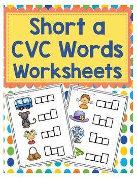 Short a CVC Word Worksheets | Kind