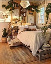 20 rustikale Schlafzimmerideen für kreative Menschen #Schlafzimmer #Kreativ #Ideen #Personen ... - Modern Design
