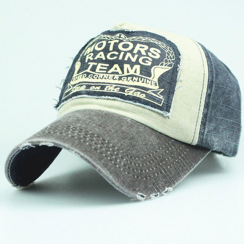 Motors Racing Team Baseball Cap 6 Colors Hats for men